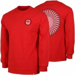 Spitfire Mens Classic Swirl Fade Long Sleeve T-Shirt-Red/Black/White-S