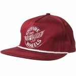 Spitfire Flying Classic Snapback Hat-Maroon/White-OS