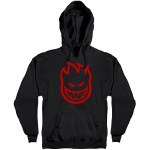 Spitfire Big Head Pullover Hoody-Black/Red-XL