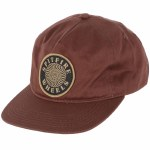 Spitfire Classic Swirl Patch Snapback Hat-Brown-OS