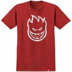 Spitfire Swirl Short Sleeve T Shirt-Red-L