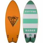 Radar Fifty50 Surfer-Orange/Sea Foam Green-4'6