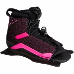 Radar Womens Lyric Water Ski Boot Front Feather Frame-Black/Pink-Small
