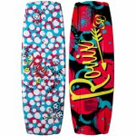 Ronix Girls August Wakeboard-Sparkle White/Pink/Blue/Yellow-120