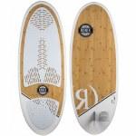 Ronix Koal Classic Longboard Wakesurfer-Bamboo Wood/White-4'10