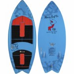 Ronix Super Sonic Space Odyssey Fish Wakesurfer-Blue/Red-3'9