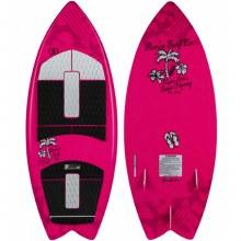 Ronix Girls Super Sonic Space Odyssey Fish Wakesurfer-Pink/White-3'9