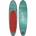 Radar The Zephyr Inflatable Stand Up Paddle Board w/ Pump, Paddle, & Bag-Mint/Red-10'6