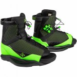 Ronix District Wakeboard Boot-Black/Green-10.5/14.5