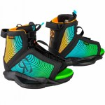 Ronix Boys Vision Wakeboard Boot-Black/Orange/Green-2/6