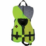 Ronix Boys Vision CGA Life Vest-Lime Heather-Infant/Toddler (Up to 30lbs)