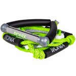 Ronix Bungee 10 Wakesurf Handle Hide Grip w/ 25ft 5 Section Rope-Green/Silver