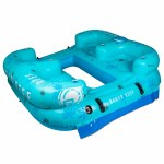 Radar Reef Lounge Palms 4 Person Tube-Blue Palms-4p
