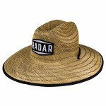 Radar Paddler's Sun Hat Tan Straw/Wave Nylon Hat-Tan Straw/Wave Nylon