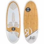Ronix Koal Classic Longboard Wake surfer-Bamboo Wood-4'10