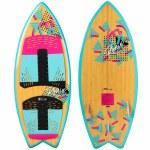Ronix Women's Koal Classic Fish Wake surfer-Pink/Black-4'5