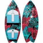 Ronix Super Sonic Space Odyssey Girl's Fish Wake surfer-Coral/Mint/Black-3'9