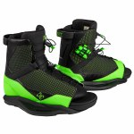Ronix District Wakeboard Binding-Black/Green-5/8.5