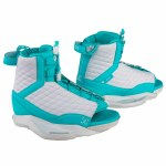 Ronix Luxe Wakeboard Binding-White/Blue Orchid-6/8.5