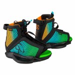 Ronix Vision Wakeboard Binding-Black/Orange/Green-2/6