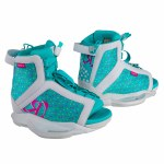 Ronix August Wakeboard Binding-White/Pink/Blue Orchid-2/6
