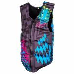 Ronix Party Athletic Cut Impact Vest-Black/Pink/Blue-M