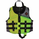 Ronix Vision Boy's CGA Life Vest-Lime Heather-30-50lbs