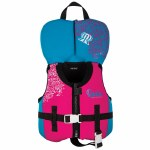 Ronix August Girl's CGA Life Vest-Pink/Blue-Up To 30lbs