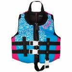 Ronix August Girl's CGA Life Vest-Sky Blue/Pink-30-50lbs