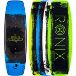 Ronix District Park Wakeboard-Matte Metallic Black & Blue/Green Base-138