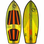 Ronix Koal w/ Technora Thruster 2 Wakesurfer-Yellow/Orange Paint Drip-5'7