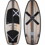 Ronix Hex Shell The Blender Wakesurfer-Natural/Paint Drip Orange-4'7