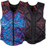 Ronix Party Athletic Cut Reversible Impact Jacket-Blue/Red Lightning-S
