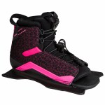 Radar Womens Lyric Water Ski Boot-Front Feather Frame-Black/Pink-Std