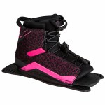 Radar Womens Lyric Water Ski Boot-Rear Feather Frame-Black/Pink-Std