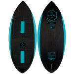 Ronix Womens Carbon Air Core 3 The Skimmer Wakesurfer-Carbon/Mint-4'4