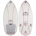 Ronix Womens Naked Technology Potbelly Rocket Wakesurfer-Natural White/Pink-4'3