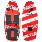 Ronix Super Sonic Space Odyssey Powertail Wakesurfer-Tropical Red/Silver-3'9