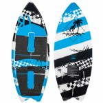 Ronix Super Sonic Space Odyssey Fish Wakesurfer-Tropical Blue/White/Black-3'9