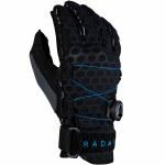 Radar Vapor K BOA Inside Out Water Ski Glove-Black/Blue Ariaprene-M