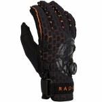 Radar Vapor A BOA Inside Out Water Ski Glove-Black/Orange Ariaprene-S