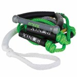 Ronix Bungee Wakesurf Rope 10 Handle Hide Grip 25ft 4 Section Rope-Assorted Color
