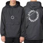 Stussy Nylon Pop Over Jacket-Black-M