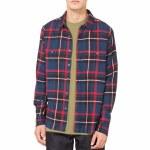 Stussy Big Pocket Flannel Shirt-Navy-XL