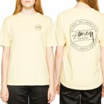 Stussy Laguna Dot Short Sleeve T Shirt Womens-Yellow-XS