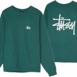 Stussy Basic Stussy Crew-Green-XL