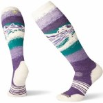 Smartwool Womens PhD Snow Medium Sock-Mountain Purple-S