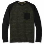 Smart Wool Merino 250 Pocket Crew-Olive/Black-L
