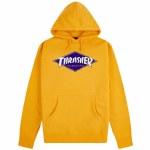 Thrasher Mens Diamond Logo Hoodie-Gold-S