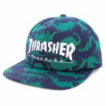 Thrasher Mens Mag Logo Snapback Hat-Dino Print-OS